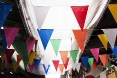 Fondo variopinto d'annata delle bandiere fotografia stock libera da diritti