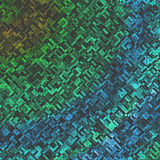 Fondo variopinto dei blocchetti di verde blu di progettazione casuale di struttura Immagini Stock Libere da Diritti