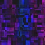 Fondo variopinto dei blocchi di progettazione casuale viola blu di struttura Fotografie Stock Libere da Diritti