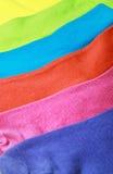 Fondo variopinto dei calzini Fotografie Stock