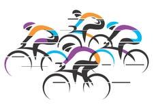 Fondo variopinto dei corridori dei ciclisti royalty illustrazione gratis