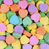 Fondo variopinto dei cuori Innamorato Candy Fotografia Stock