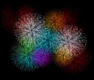 Fondo variopinto dei fuochi d'artificio Immagini Stock Libere da Diritti