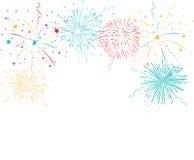 Fondo variopinto dei fuochi d'artificio Immagine Stock Libera da Diritti