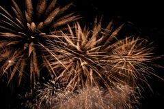 Fondo variopinto dei fuochi d'artificio Fotografia Stock Libera da Diritti
