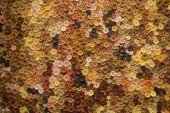 Fondo variopinto del bottone Fotografia Stock