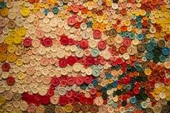 Fondo variopinto del bottone Fotografia Stock Libera da Diritti