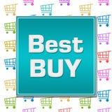 Fondo variopinto del carrello di Best Buy Immagine Stock Libera da Diritti