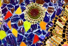 Fondo variopinto del modello di progettazione di vetro di mosaico Fotografia Stock Libera da Diritti