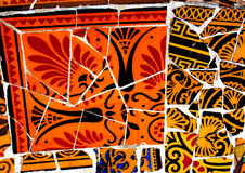 Fondo variopinto del mosaico di Gaudi Fotografia Stock