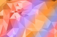 Fondo variopinto del poligono dell'arcobaleno illustrazione di stock