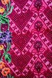 Fondo variopinto del tessuto del panno del batik Fotografia Stock Libera da Diritti
