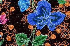 Fondo variopinto del tessuto del panno del batik Fotografie Stock Libere da Diritti