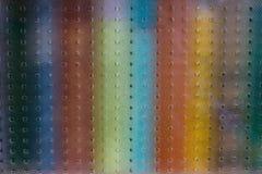 Fondo variopinto dell'acquerello dietro il vetro Immagini Stock Libere da Diritti