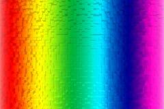 Fondo variopinto dell'estratto dell'arcobaleno, stile del blocco 3d Immagini Stock Libere da Diritti