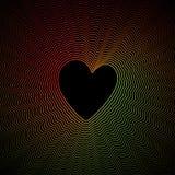Fondo variopinto dell'estratto della curva del cuore Fotografie Stock Libere da Diritti