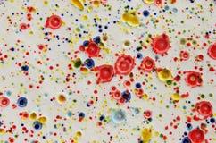 Fondo variopinto della pittura dell'acquerello in ceramico Fotografie Stock Libere da Diritti