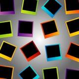 Fondo variopinto della polaroid Immagine Stock