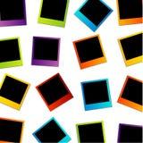 Fondo variopinto della polaroid Fotografie Stock