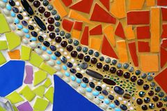 Fondo variopinto delle mattonelle della parete immagine stock