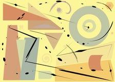 Fondo variopinto di Aabstract, forme geometriche operate marrone chiaro su beige Immagini Stock Libere da Diritti