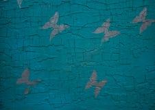 Fondo variopinto di legno con le farfalle Fondo immagine stock libera da diritti