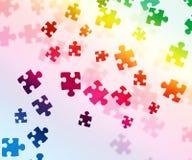 Fondo variopinto di puzzle Fotografia Stock