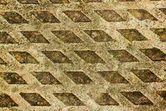 Fondo variopinto di struttura e di Diamond Shape Grungy Patterns Fotografie Stock