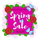 Fondo variopinto di vendita della primavera Immagine Stock