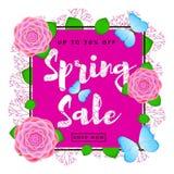 Fondo variopinto di vendita della primavera Fotografia Stock