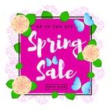 Fondo variopinto di vendita della primavera Immagine Stock Libera da Diritti