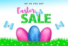 Fondo variopinto di vendita di Pasqua Immagine Stock Libera da Diritti