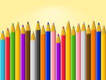 Fondo variopinto di vettore delle matite Fotografia Stock Libera da Diritti