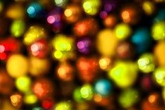 Fondo variopinto festivo, palle astratte di natale Fotografie Stock Libere da Diritti