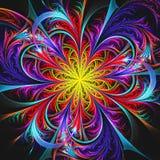 Fondo variopinto luminoso del fiore di frattale illustrazione vettoriale