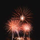 Fondo variopinto reale dei fuochi d'artificio per il festival di celebrazione come N Fotografia Stock Libera da Diritti