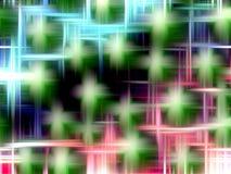 Fondo variopinto vivo con i punti verdi Fotografia Stock