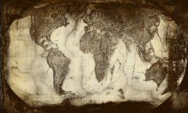 Fondo-vecchia mappa Fotografia Stock
