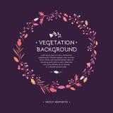 Fondo vegetal Elementos para el diseño stock de ilustración