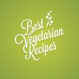 Fondo vegetariano de las letras del vintage de la comida Fotografía de archivo libre de regalías