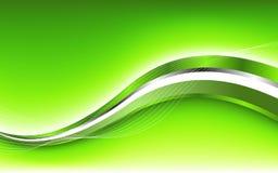 Fondo verde abstracto con la onda stock de ilustración