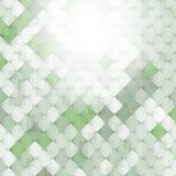 Fondo verde abstracto con los elementos de la geometría, cuadrado Imágenes de archivo libres de regalías