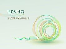 Fondo verde abstracto de la bola del vector stock de ilustración