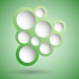 Fondo verde abstracto de la burbuja del discurso Fotos de archivo