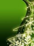 Fondo verde abstracto de la Navidad Imagen de archivo libre de regalías