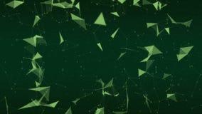 Fondo verde abstracto de la red del plexo ilustración del vector