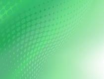 Fondo verde abstracto del diseño del remolino del punto Ilustración del Vector