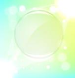 Fondo verde abstracto del marco Fotografía de archivo