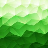 Fondo verde abstracto del triángulo Foto de archivo libre de regalías
