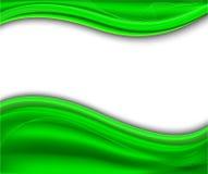 Fondo verde abstracto - onda Libre Illustration